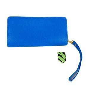 NWT Kadiou Blue Zipper Wallet Wristlet